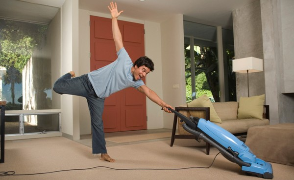 Man Hoovering - The Property Blog