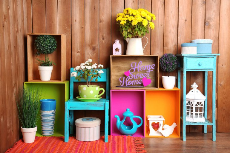 colourful items from a home