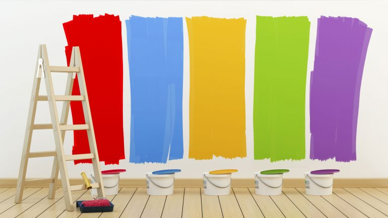 colorful-paint-on-a-wall