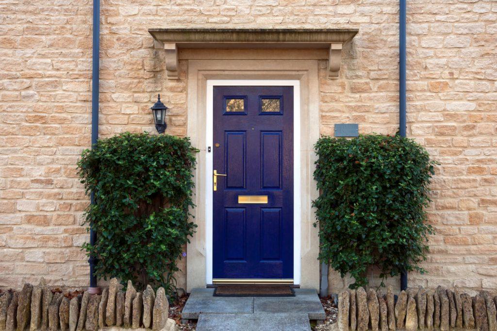 blue front door - The Property Blog