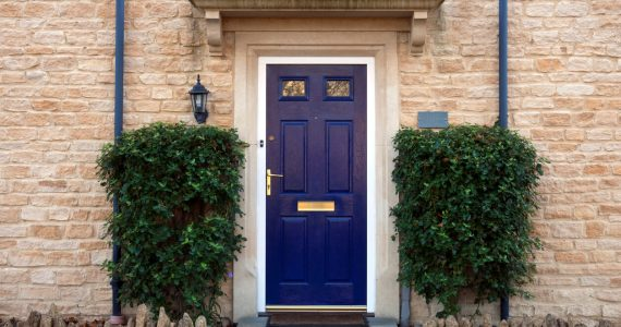 blue front door - The Property Blog
