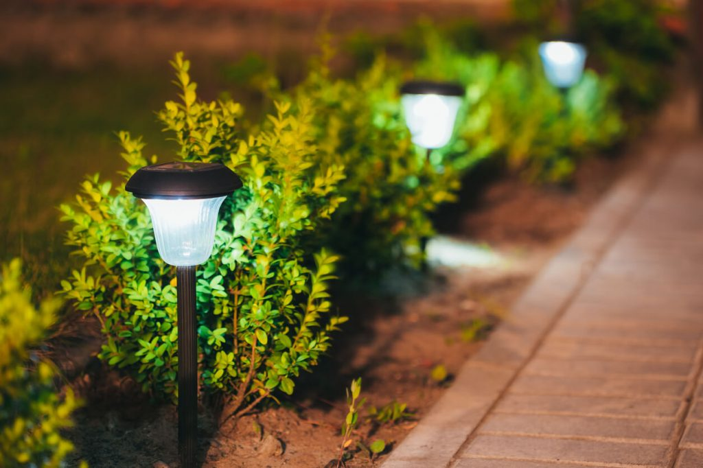 lit up pathway - The Property Blog